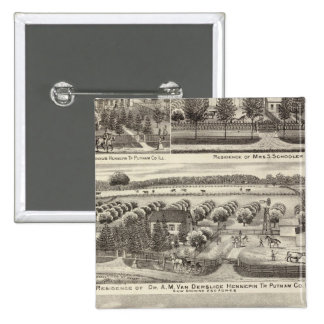 Residences and farm residences in Putnam Co 15 Cm Square Badge