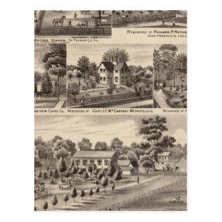 Residences and farms in Edgar, Hardin, Massac Postcard
