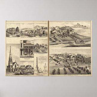 Residences of DG Heald, JM Bowles Poster