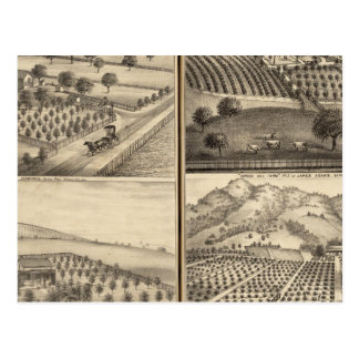 Residences of Edward Jennings, Alfred Symonds Postcard