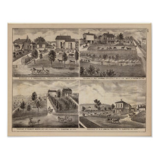 Residences of Greenwood, Carroll, Minnesota Poster