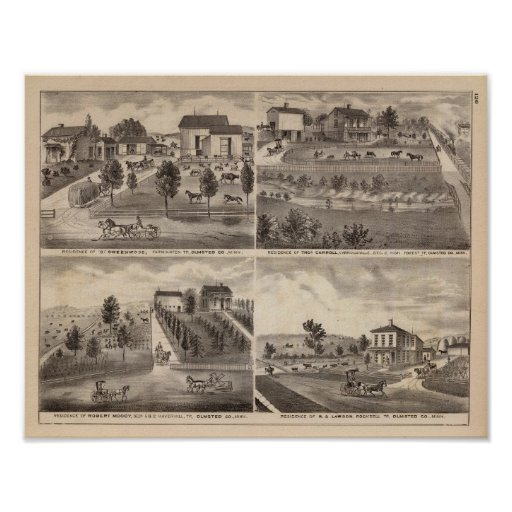Residences of Greenwood, Carroll, Minnesota Print