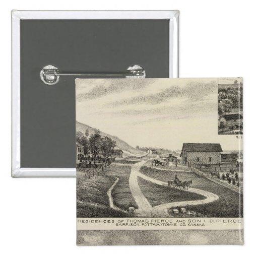 Residences of Pierce and Cooper, Kansas Pins