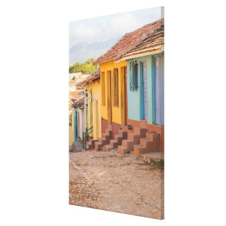 Residential houses, Trinidad, Cuba Canvas Print