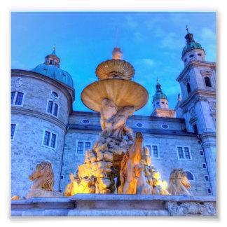 Residenzplatz in Salzburg, Austria Photo Print