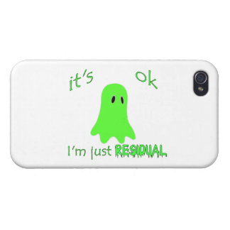 Residual Haunting - Green Ghost Cases For iPhone 4