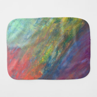 Resilient Baby | Watercolor Rainbow Abstract | Burp Cloth
