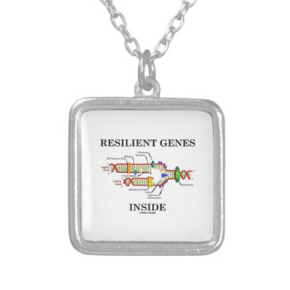 Resilient Genes Inside (DNA Replication) Silver Plated Necklace