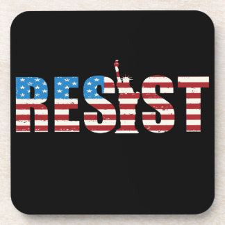 Resist Anti Trump Resistance Persist 2 Coaster