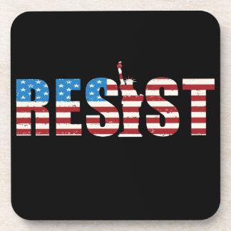 Resist Anti Trump Resistance Persist 2 Coaster