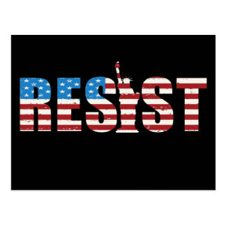 Resist Anti Trump Resistance Persist 2 Postcard