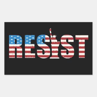 Resist Anti Trump Resistance Persist 2 Rectangular Sticker