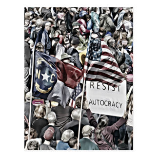 Resist Autocracy Postcard