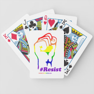 #Resist Bicycle Playing Cards