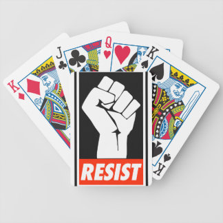 resist bicycle playing cards
