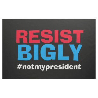 Resist Bigly Protest Trump Banner Sign Flag Fabric