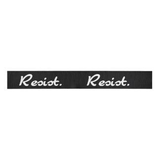 Resist Black and White Resistance Grosgrain Ribbon