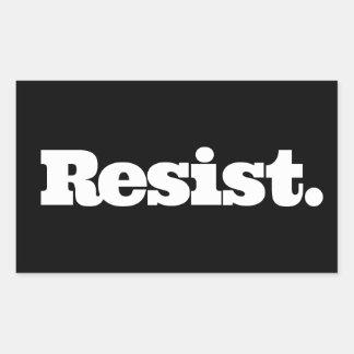 RESIST Black Sticker