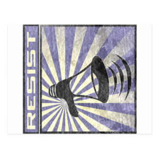 Resist (Blue and gray stripes) Postcard