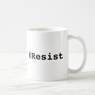 #Resist, Bold Black Text Coffee Mug
