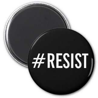 #Resist, bold white text on black magnet