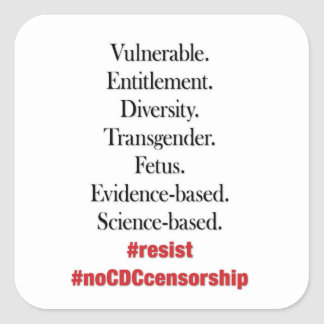 Resist CDC Censorship. Stickers