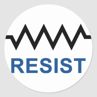 Resist Classic Round Sticker