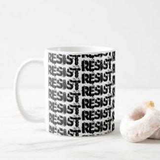 RESIST Coffee Mug - Resistance White & Black Mug