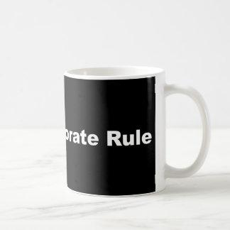 Resist Corporate Rule Coffee Cup
