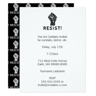 Resist Fist 11 Cm X 14 Cm Invitation Card