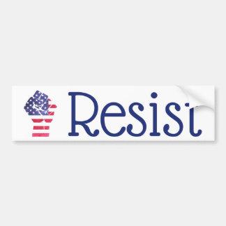 Resist Fist American Flag Democrat Anti Trump Bumper Sticker