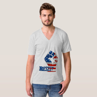 Resist Fist, American Flag - Patriotic T-Shirt
