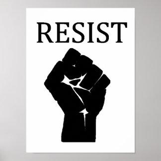 RESIST Fist Anti Donald Trump Poster