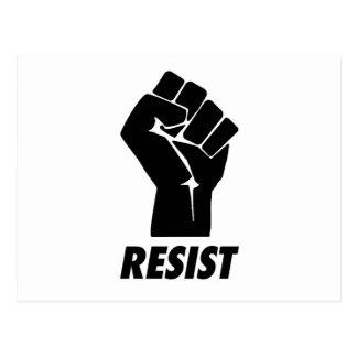 resist fist postcard