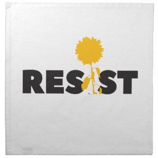 resist flower napkin