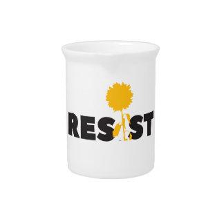 resist flower pitcher