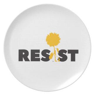 resist flower plate