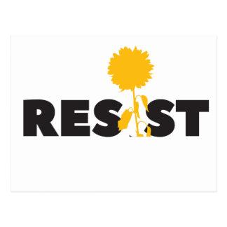 resist flower postcard