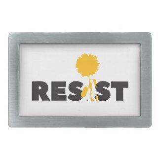 resist flower rectangular belt buckles
