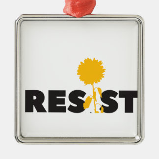 resist flower Silver-Colored square decoration
