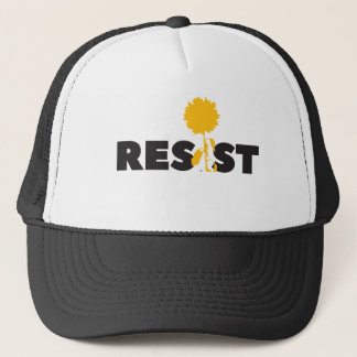 resist flower trucker hat