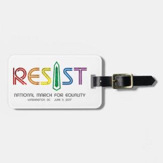 Resist Luggage Tag