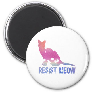 Resist meow feminist cat magnet