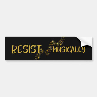 Resist Musically Bumper Sticker