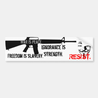 Resist - Nineteen Eighty-Four Bumper Sticker