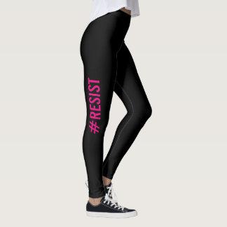 #Resist Pink Black Resistance Leggings
