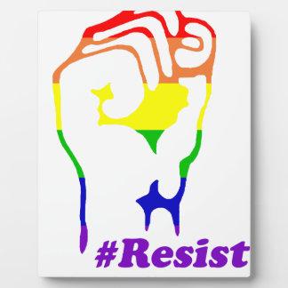 #Resist Plaque