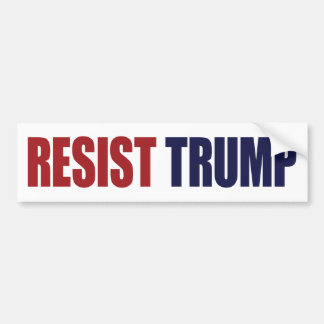 Resist President Trump - Anti Trump Bumper Sticker