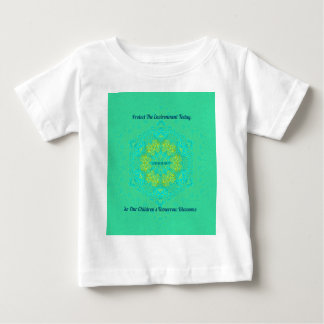 #Resist Protect Environment Anti-Trump Mandala Baby T-Shirt