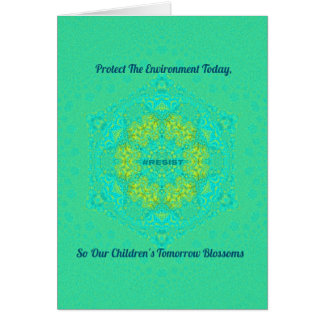 #Resist Protect Environment Anti-Trump Mandala Card